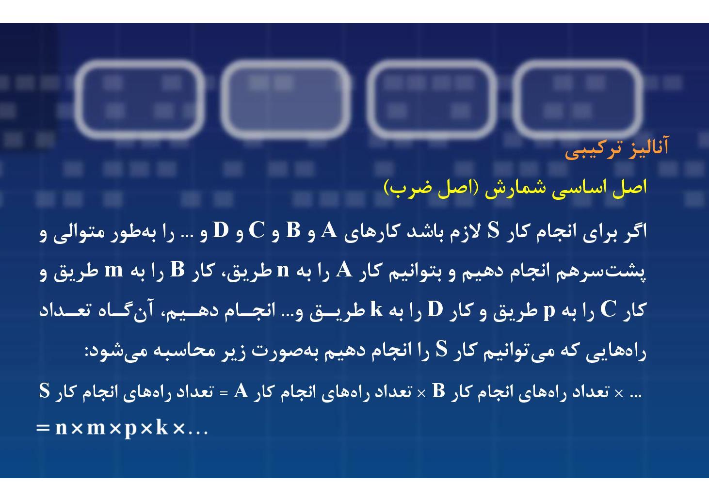 ریاضی سوم- فصل ٣-- شمارش- بخش ١ (PDF)