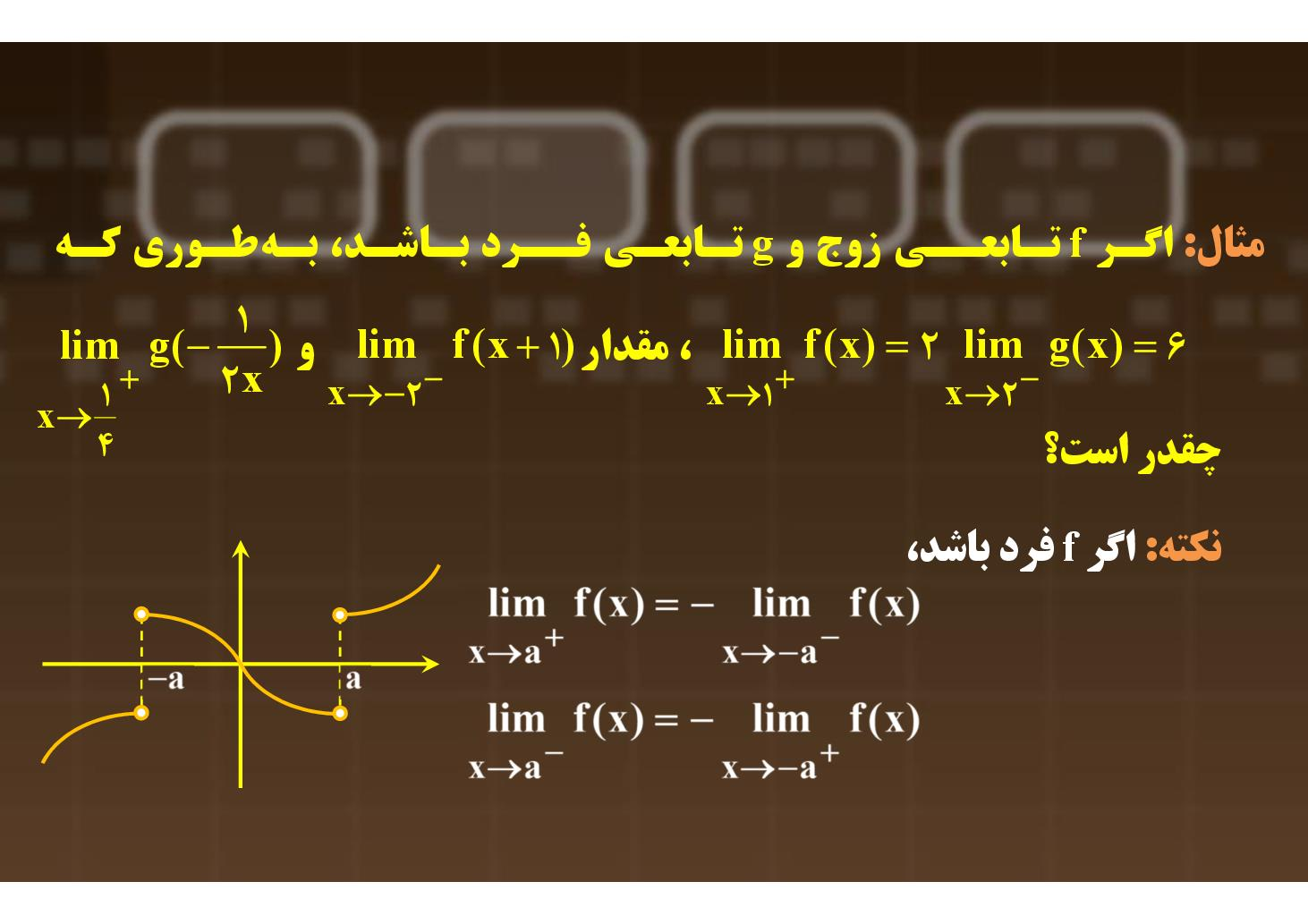 حسابان- فصل ۴- پیوستگی توابع- بخش ۵ (PDF)