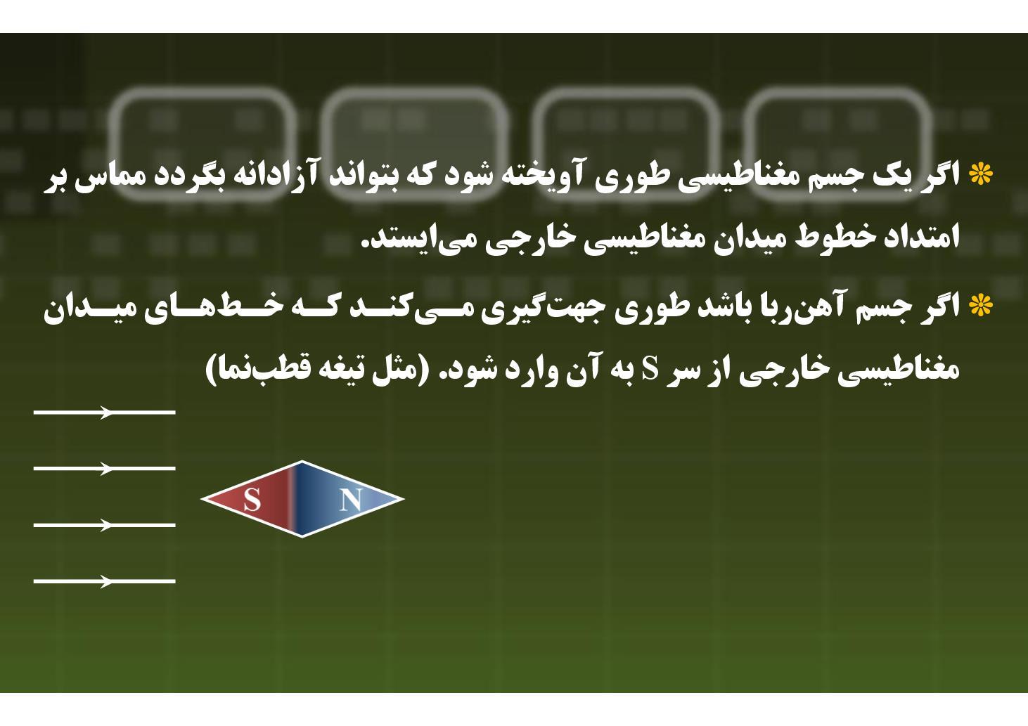 فیزیک ٣- فصل ٣ (فصل ۴ ریاضی)- آهنربا و میدان مغناطیسی اطراف آن- بخش ٢ (PDF)