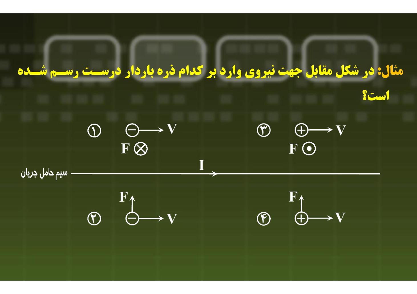 فیزیک ٣- فصل ٣ (فصل ۴ ریاضی)- سؤال ترکیبی مغناطیس- بخش ١ (PDF)