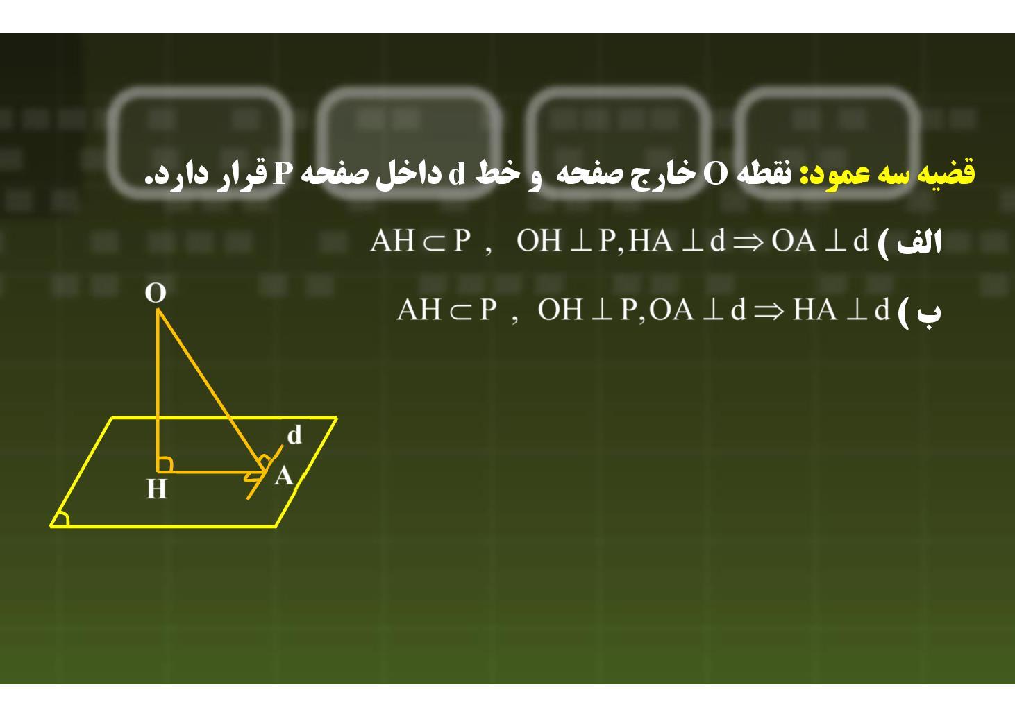 هندسه ٢- فصل ۴- خط و صفحه- بخش ١٢ (PDF)