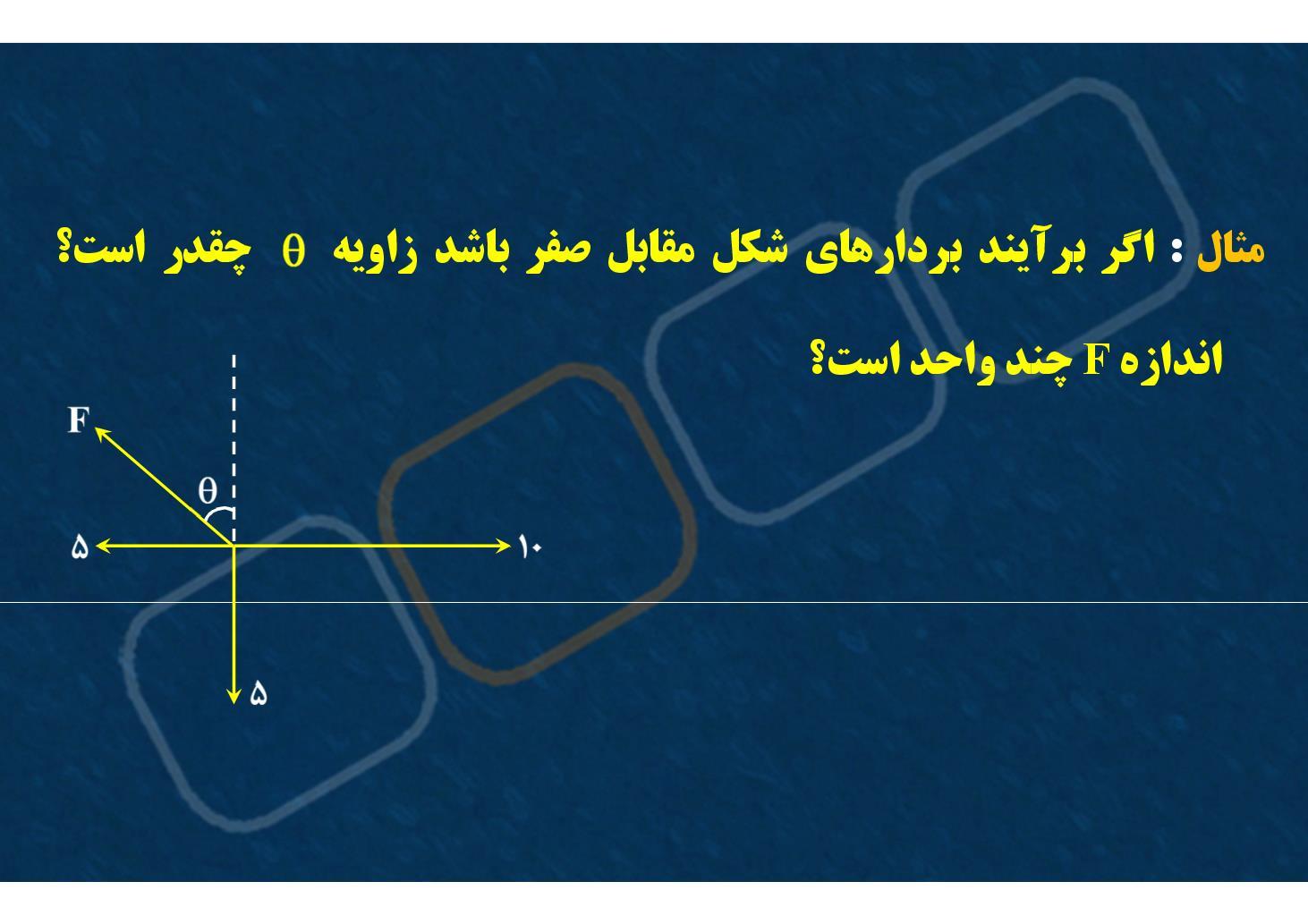 فیزیک٢- فصل ١- جمع بردارها- برآیندگیری- بخش ١ (PDF)