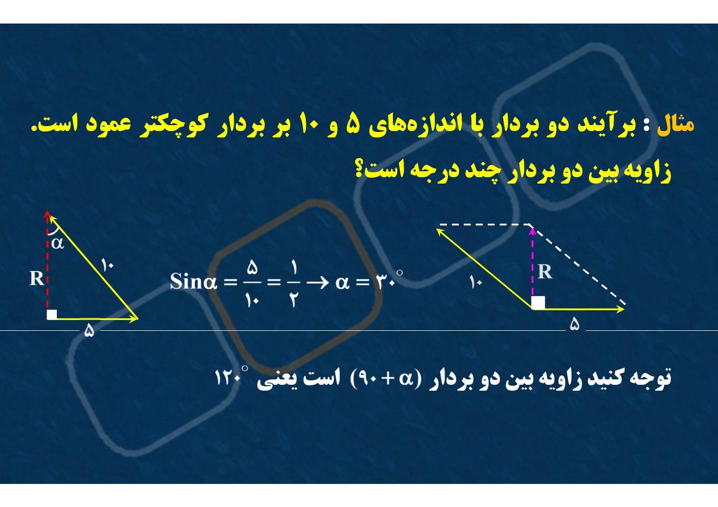 فیزیک٢- فصل ١- جمع بردارها- برآیندگیری- بخش ۶ (PDF)