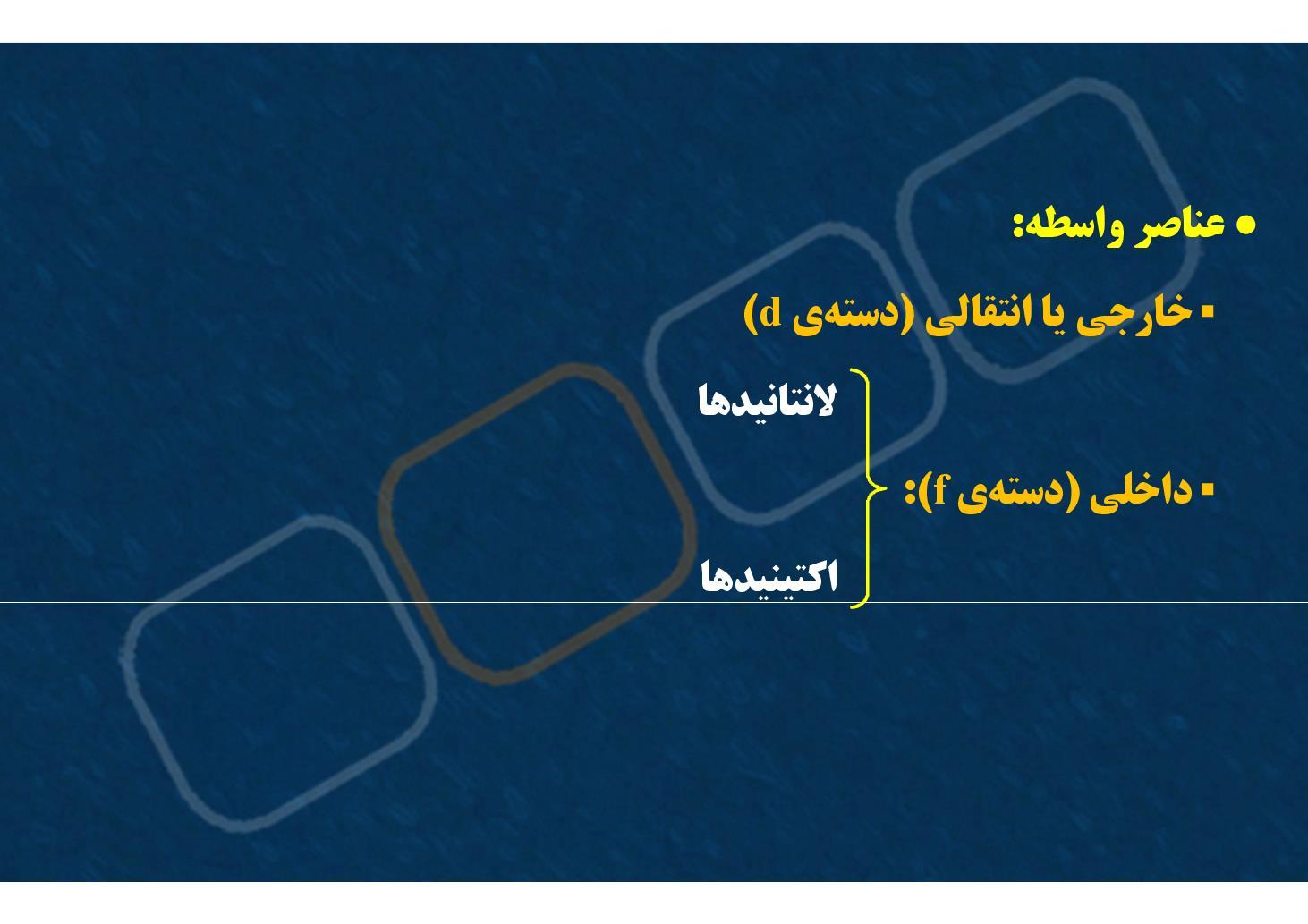 شیمی ٢-بخش ٢- گروه ٣ تا ١٢- عناصر واسطه (PDF)